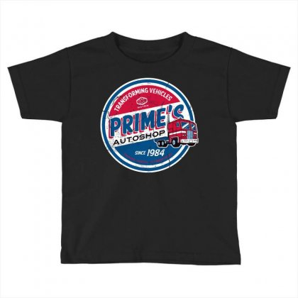 Prime's Autoshop Toddler T-shirt Designed By Milaart