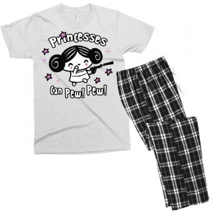 Princesses Can Pew! Pew! Too Men's T-shirt Pajama Set Designed By Milaart