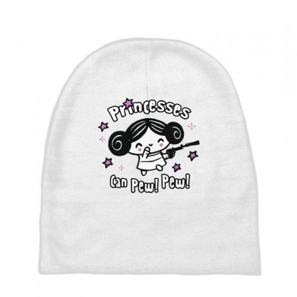 Princesses Can Pew! Pew! Too Baby Beanies Designed By Milaart