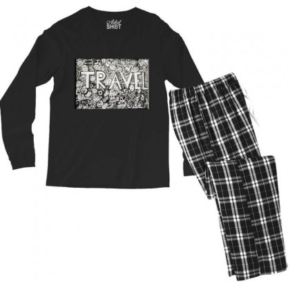 Travel Men's Long Sleeve Pajama Set Designed By Dep