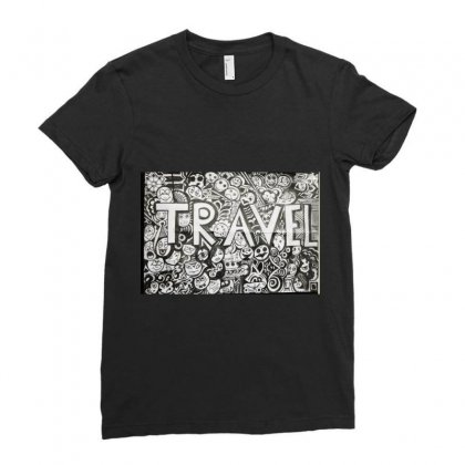 Travel Ladies Fitted T-shirt Designed By Dep