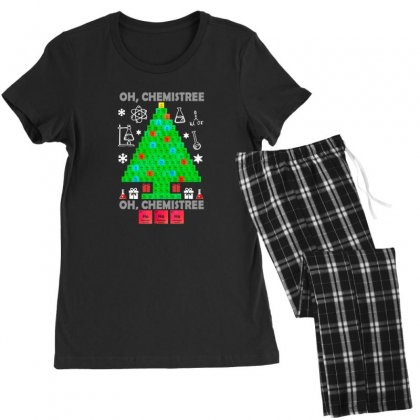 Oh Chemistree Funny Science Chemistry Christmas Women's Pajamas Set Designed By Sr88