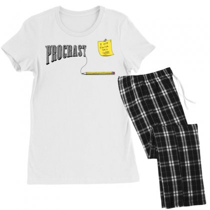 Procrast . . . Inate Women's Pajamas Set Designed By Milaart