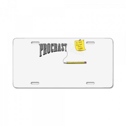 Procrast . . . Inate License Plate Designed By Milaart