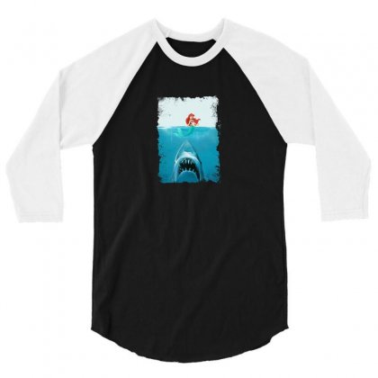 Shark 3/4 Sleeve Shirt Designed By Disgus_thing