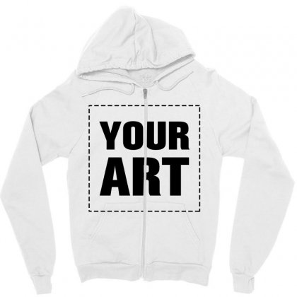 Your Design Name Zipper Hoodie Designed By Yourusername