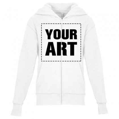 Your Design Name Youth Zipper Hoodie Designed By Yourusername