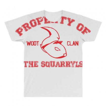 Property Of The Squarryls All Over Men's T-shirt Designed By Milaart