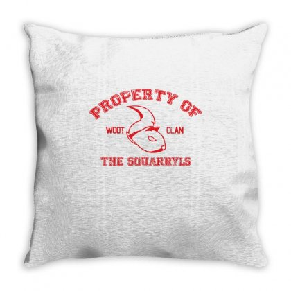 Property Of The Squarryls Throw Pillow Designed By Milaart