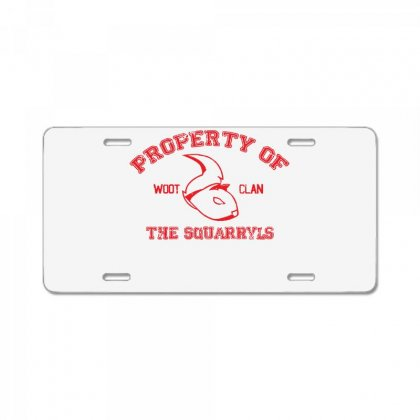 Property Of The Squarryls License Plate Designed By Milaart