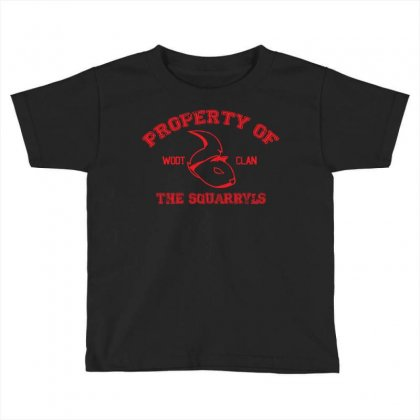 Property Of The Squarryls Toddler T-shirt Designed By Milaart