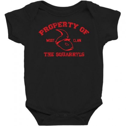 Property Of The Squarryls Baby Bodysuit Designed By Milaart