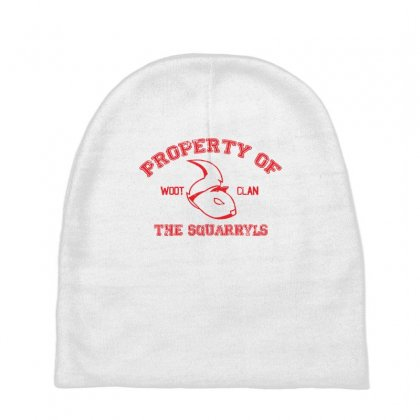 Property Of The Squarryls Baby Beanies Designed By Milaart