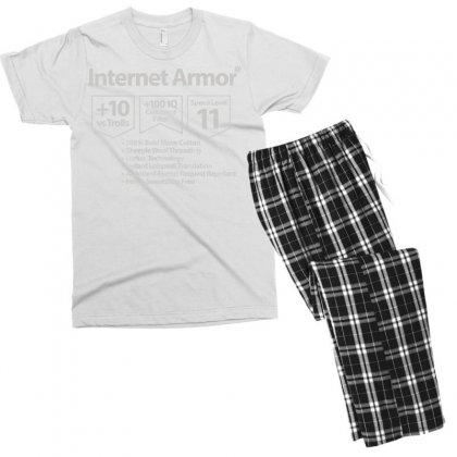Protect Yourself Men's T-shirt Pajama Set Designed By Milaart
