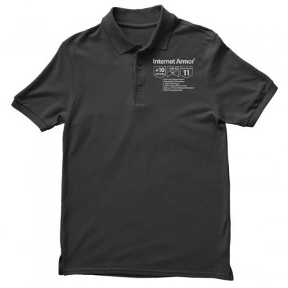 Protect Yourself Men's Polo Shirt Designed By Milaart
