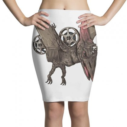Pterodactyl Projector Pencil Skirts Designed By Milaart