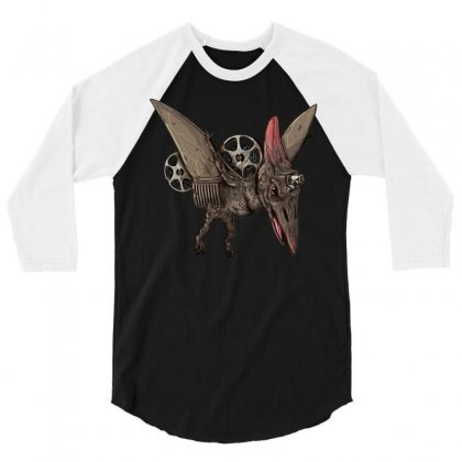 Pterodactyl Projector 3/4 Sleeve Shirt Designed By Milaart