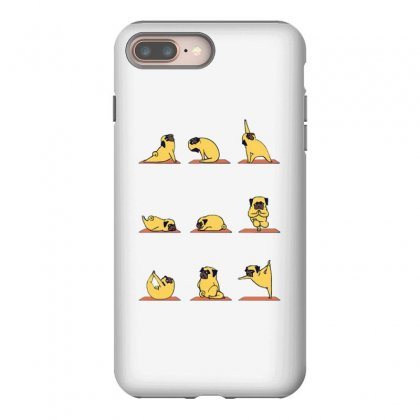 Pug Yoga Iphone 8 Plus Case Designed By Milaart