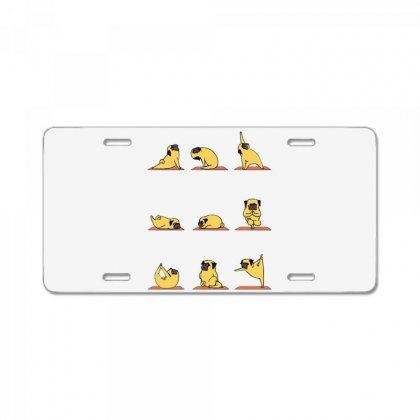 Pug Yoga License Plate Designed By Milaart