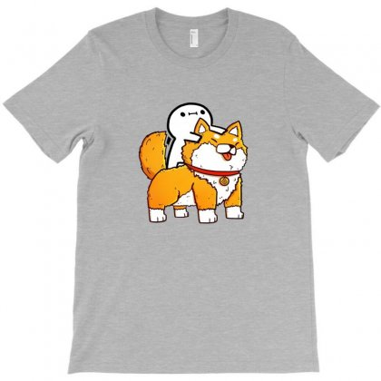 Billy And Shiba T-shirt Designed By Ahmadjufriyanto