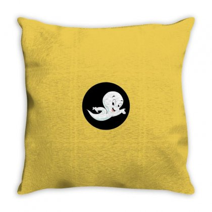 Funny Casper Throw Pillow Designed By Disgus_thing