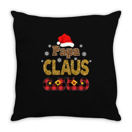 Papa Claus Throw Pillow Designed By Omer Acar