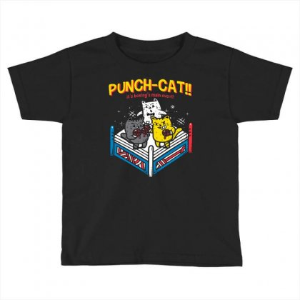 Punch Cat! Toddler T-shirt Designed By Milaart