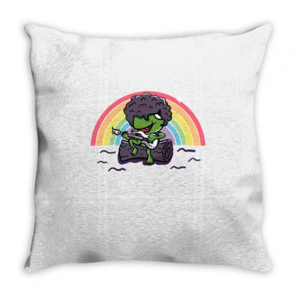 Purple Rainbow Connection Throw Pillow Designed By Milaart