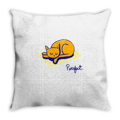 Purrrfect Day Throw Pillow Designed By Milaart