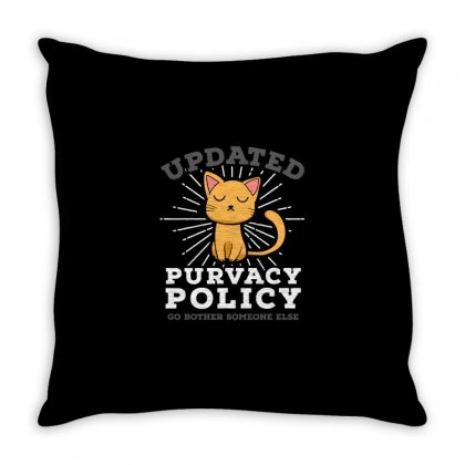 Purvacy Policy Throw Pillow Designed By Milaart