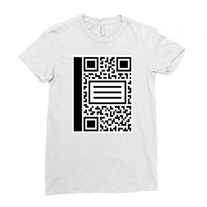 Qr Composition Ladies Fitted T-shirt Designed By Milaart