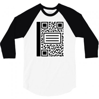Qr Composition 3/4 Sleeve Shirt Designed By Milaart