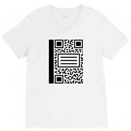 Qr Composition V-neck Tee Designed By Milaart