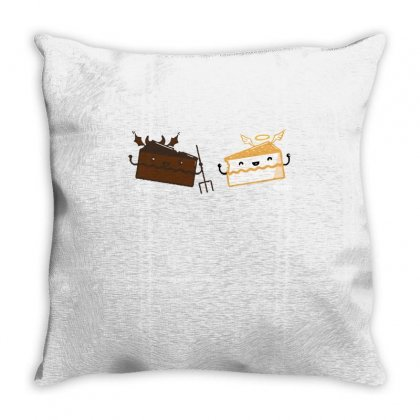Questionable Food Conscience Throw Pillow Designed By Milaart