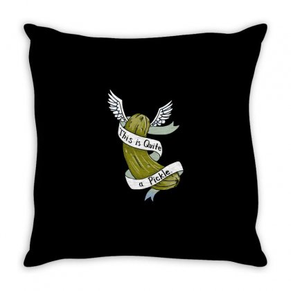 Quite A Pickle Throw Pillow Designed By Milaart