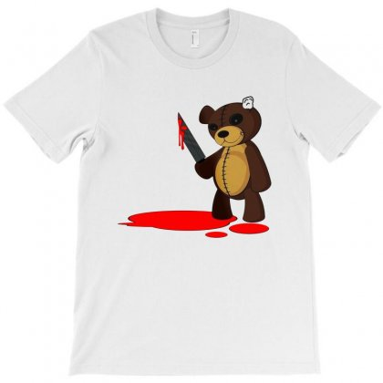 Psycho Teddy T-shirt Designed By Creative Tees