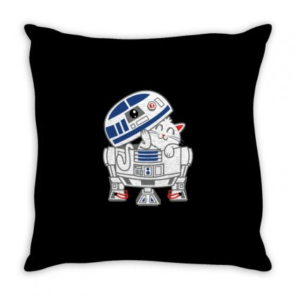 R2 D Mew Throw Pillow Designed By Milaart