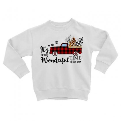 It's The Most Wonderful Time Of The Year Toddler Sweatshirt Designed By Omer Acar