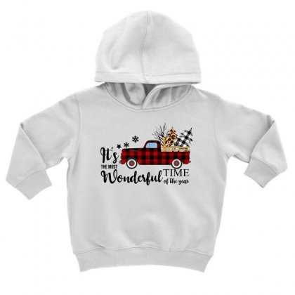 It's The Most Wonderful Time Of The Year Toddler Hoodie Designed By Omer Acar