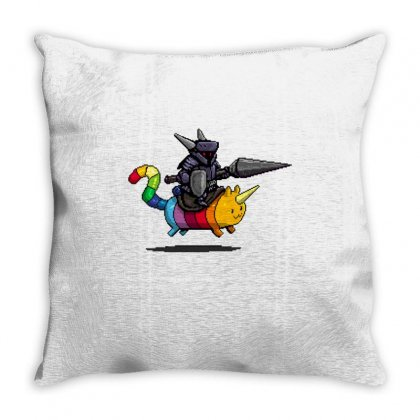 Rainbow Cat And The Dark Knight Throw Pillow Designed By Milaart
