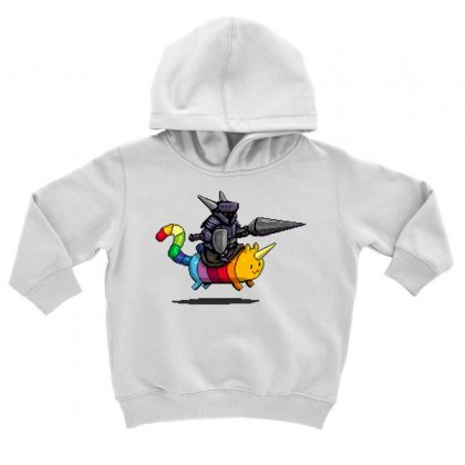Rainbow Cat And The Dark Knight Toddler Hoodie Designed By Milaart