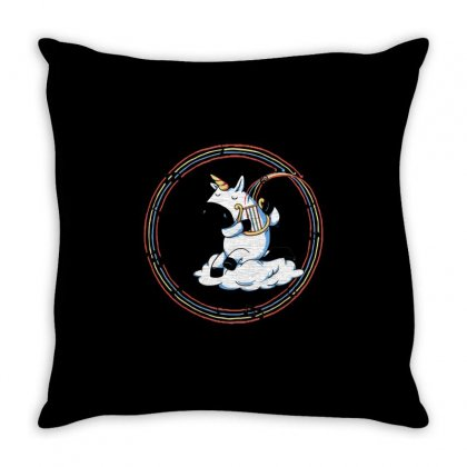 Rainbow Melody Throw Pillow Designed By Milaart