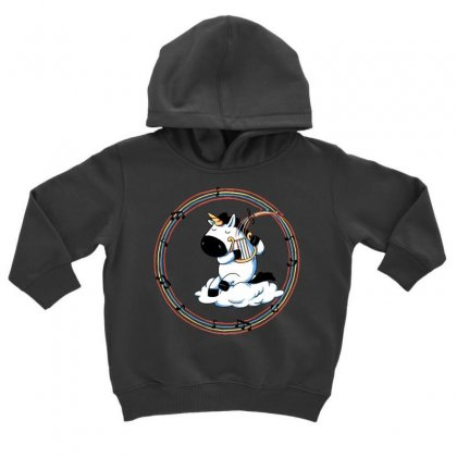 Rainbow Melody Toddler Hoodie Designed By Milaart