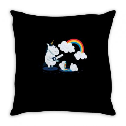 Rainbow Throw Pillow Designed By Milaart