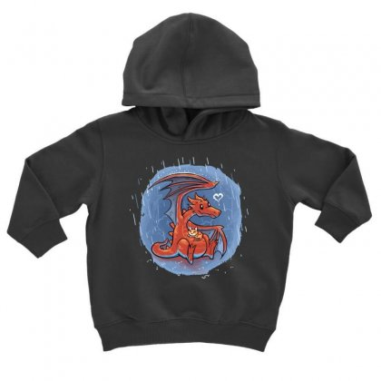 Rainy Day Love Toddler Hoodie Designed By Milaart