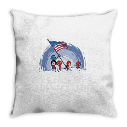 Raising The Flag Throw Pillow Designed By Milaart