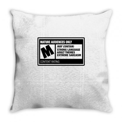 Rated M Throw Pillow Designed By Milaart