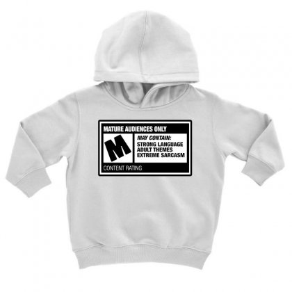 Rated M Toddler Hoodie Designed By Milaart