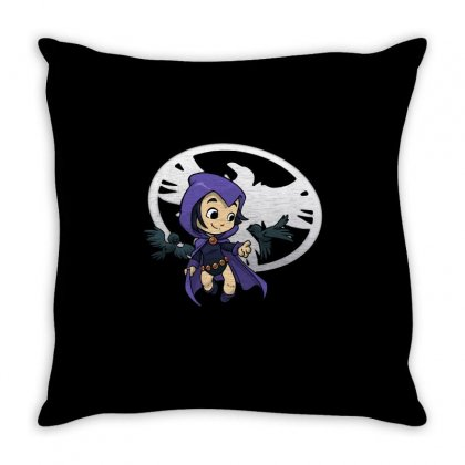 Raven Haired Heroine Throw Pillow Designed By Milaart