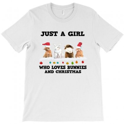 Just A Girl Who Loves Bunnies And Christmas Png,just A Girl Who Loves T-shirt Designed By Alparslan